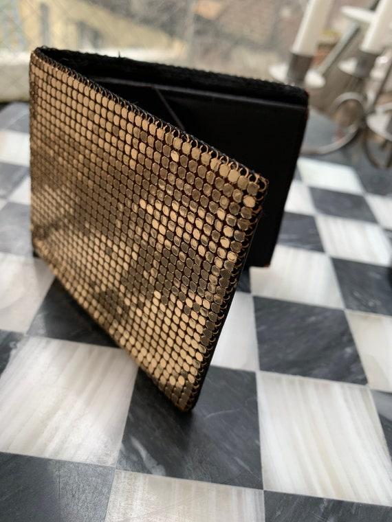 Gold Mesh Wallet, 70s Disco Chain Mail Vintage Billfold