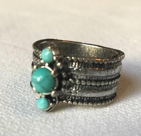 Chunky Vintage Boho Southwestern Ring