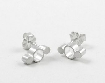 Sterling Silver Stud Earrings, Modern Earrings, Minimalist Earrings, Modern Jewelry, Minimalist Jewelry, Simona Studs