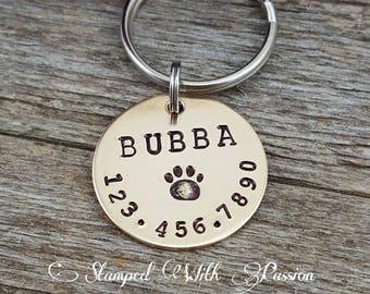 Custom Pet Tag - Personalized Dog Tag - Hand stamped dog tag collar tag pet id dog id cat tag cat id