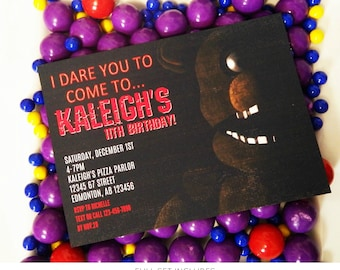 FNAF Invitation | Five Nights At Freddy's Birthday | Fnaf Printable Invitation | Fnaf Birthday Party Decorations | Epic Parties by REVO