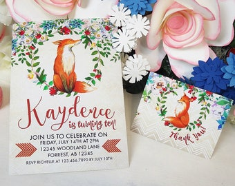 Woodland Birthday Printable | Woodland Birthday Invitation | Woodland Invitation | Woodland Decoration Fox Invitation | Epic Parties by REVO