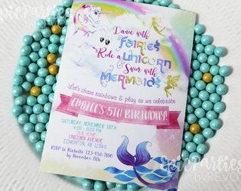 Unicorn Invitation | Unicorn Party Printable | Unicorn Mermaid Invitation | Unicorn Birthday | Printable Invitation | Epic Parties by REVO