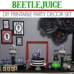 Beetlejuice Party Printable   Beetlejuice Decorations   Beetlejuice Birthday   Party   Betelgeuse   Any Age   Epic Parties by REVO
