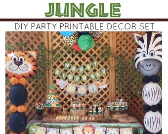 Jungle Birthday Party Printable | Jungle Birthday Decorations | Jungle Party Printable | Jungle Safari | All Ages | Epic Parties by REVO