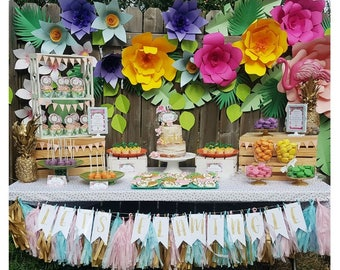 Flamingo Party Printable | Flamingo Birthday Decorations | Flamingo Party Decorations | 1st Birthday | Any Age | Epic Parties by REVO