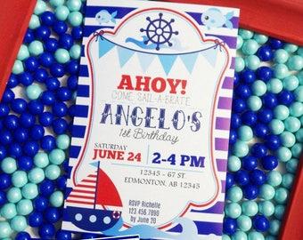 Nautical Birthday Invitation | Nautical Printable Invitation | Nautical Invitation | Nautical Party Printable | Epic Parties by REVO