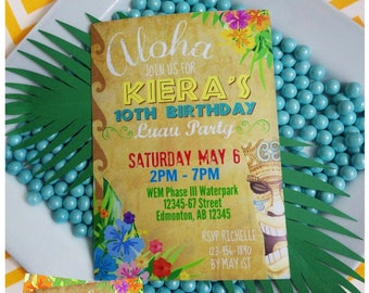 Luau Invitation | Luau Birthday | Luau Party | Printable Invitation | Luau Party Printable | Tiki Birthday Invitation | Epic Parties by REVO