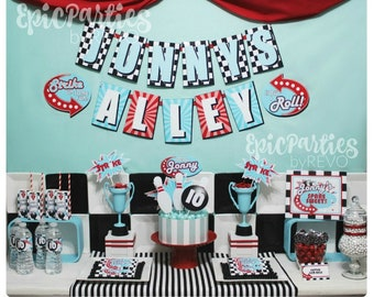 Bowling Birthday Party | Bowling Party Printable | Bowling Birthday Decorations| Bowling Party Decorations | Any Age | Epic Parties by REVO
