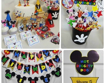 mickey mouse clubhouse party printable mickey birthday mickey decorations mickey mouse decor boygirl twins epic parties by revo