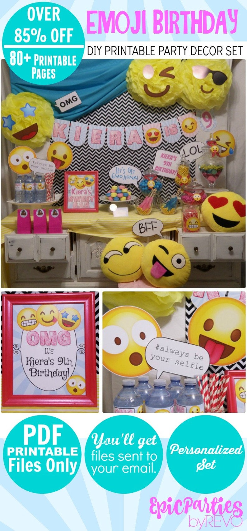 Emoji Birthday Printable Party