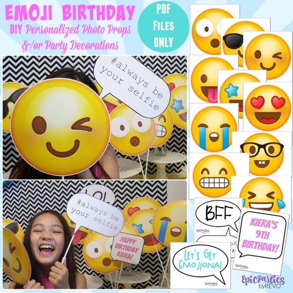 Emoji Birthday Party Printable