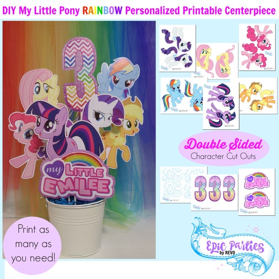 photograph regarding My Little Pony Printable known as My Tiny Birthday Printable Minimal Pony Customized