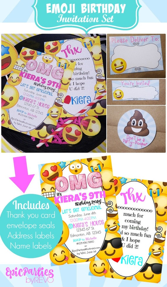 Emoji Birthday Printable Invitation