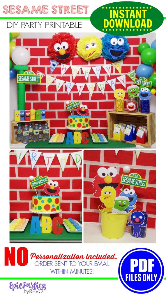 Sesame Street Party Printable