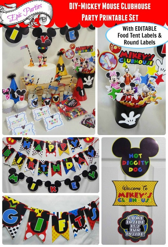 Mickey Mouse Clubhouse Party Printable