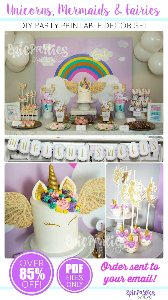 Unicorn Birthday Party Unicorn Party Printable Unicorn