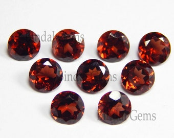 Rarest Lot Natural Garnet 6x6 mm Round Cabochon Loose Gemstone