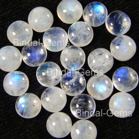 10 Pieces Lot NATURAL  MOONSTONE 3 mm to 10 mm Bullet Cabochon Calibrated Size Loose Gemstone For Jewellery Setting