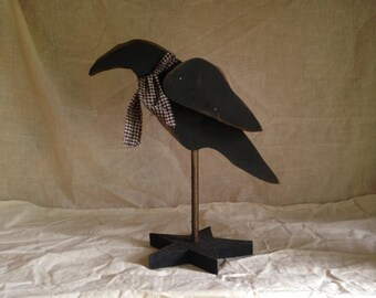 Rustic Crow on Star Base
