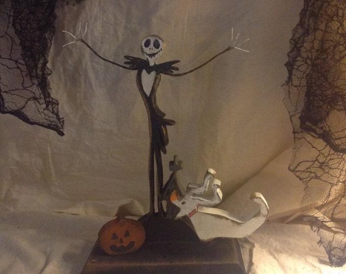 Skeleton Jack and his ghost dog shelf sitter