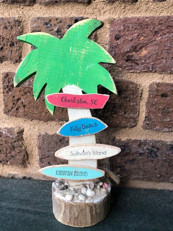 Palmetto Tree City Sign