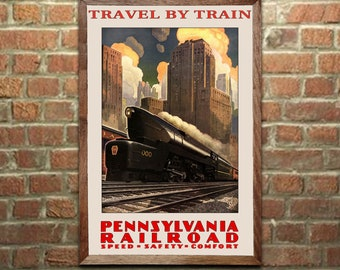 "West Philadelphia Poster 1902 Pennsylvania Railroad Yard Art Print 11/"" x 17/"""