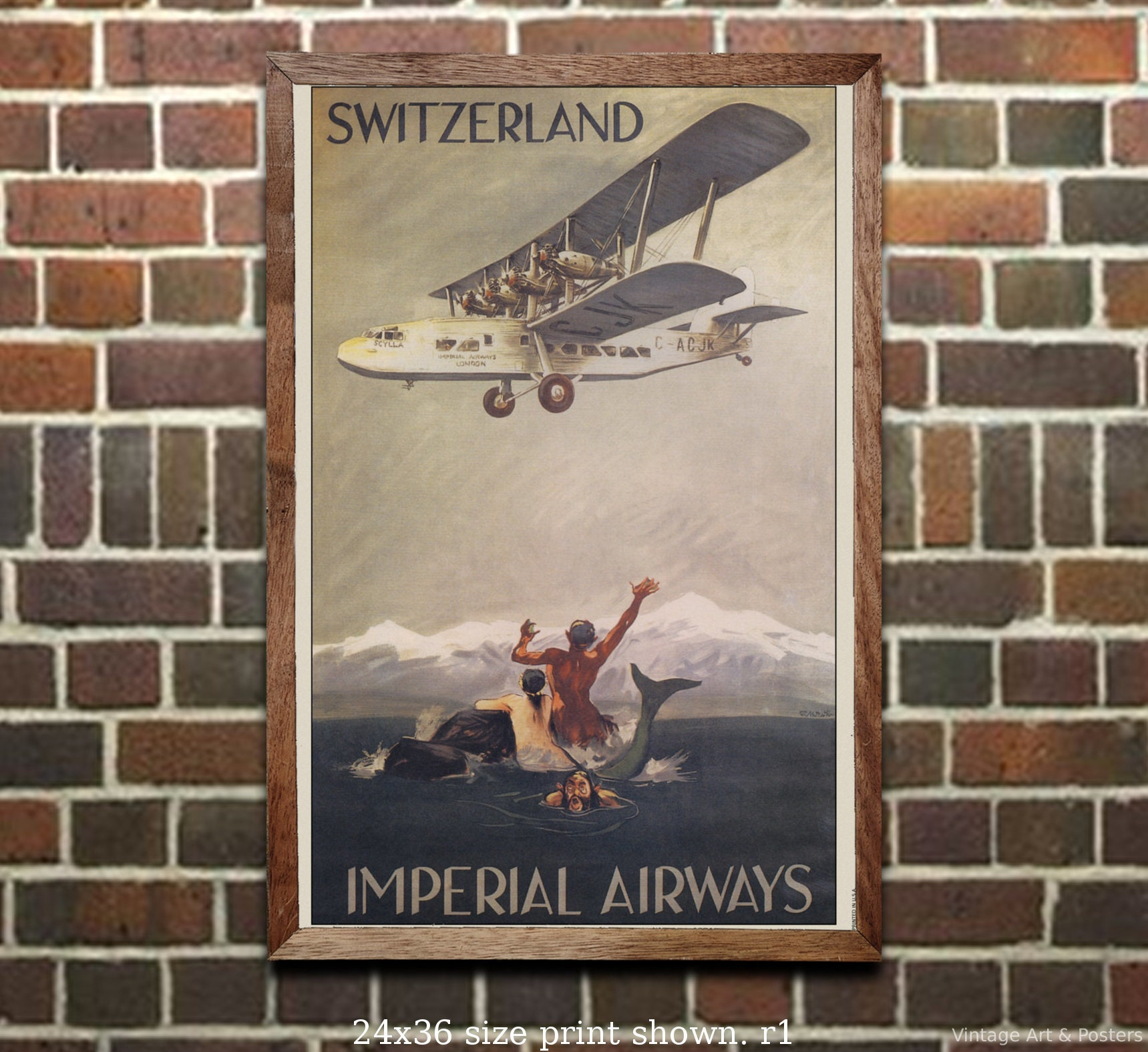 Vintage Travel Poster Austria #2 4 sizes, matte+glossy avail