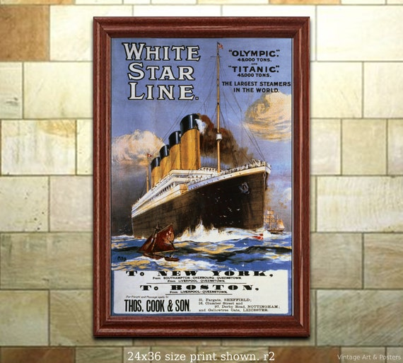 6 sizes, matte+glossy avail To Canada /& USA #2  Vintage Sea Travel Poster
