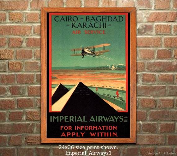 A2  Reprint Vintage Cairo Hotel Travel Poster Poster A3