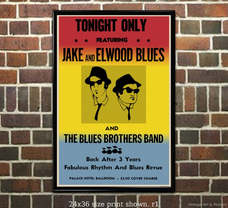 1980 The Blues Brothers Poster Reprint//Home Decor//Wall Decor//Wall Art