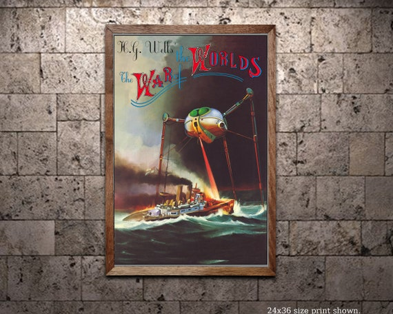 Vintage HG Wells War Of The Worlds Movie Poster A4//A3//A2//A1 Print
