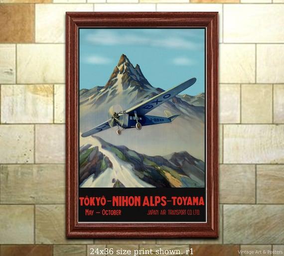 """Vintage /""""Japan Air Transport/""""  Poster 1930/'s"""