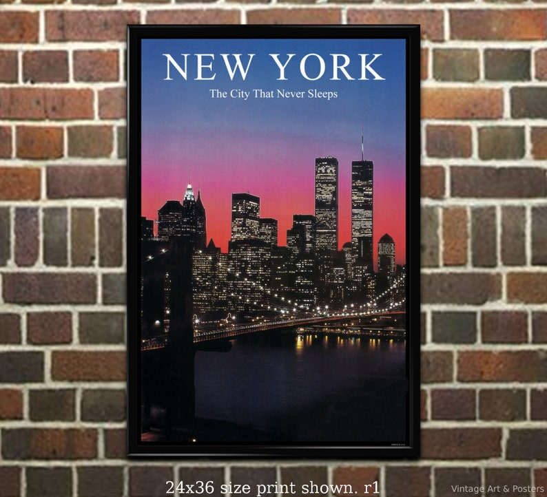 11x17 inch Vintage Travel Poster New York #5