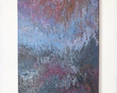 Silver Sliver 16x20 - Acrylic Pour Painting, Abstract Painting, Acrylic Pour Art, 16x20 Wall Hanging