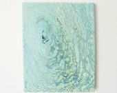Sage Swirl 8x10 - Acrylic Pour Painting, Abstract Painting, Acrylic Pour Art, Wall Hanging 8x10