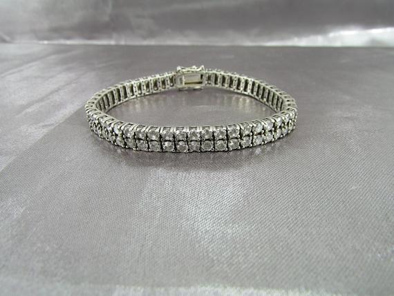 Vintage French Zirconium River Bracelet, Diamonds