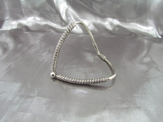 Vintage Ethnic Arm Bracelet , Sterling Silver Arm