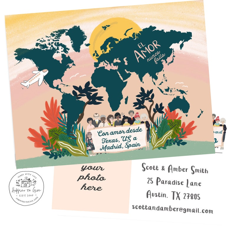 SPANISH! Love Never Fails - International Convention Postcards -  Personalized - JW 2019 International Convention Gifts
