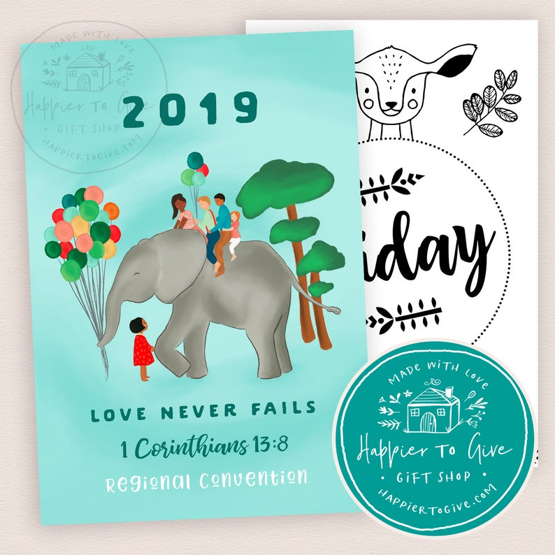 2019 Love Never Fails Convention Notebook for Kids : JW Convention Notebook  2019 Children