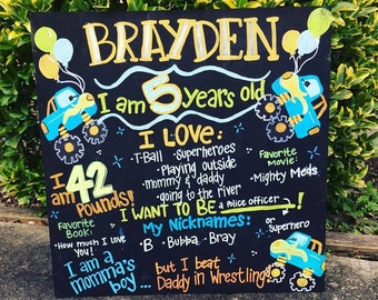 """24x24"""" Birthday Board Handpainted LOCAL ORDERS ONLY"""