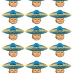 Printable DIY Do it yourself Personalized mariachi Mexican party photo cupcake toppers .