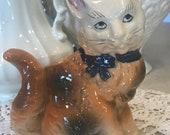 Vintage Cat indoor Planter. garden, patio, decor, kitten, kitty
