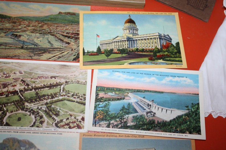 eclectic mix unused Lot of 9 vintage postcards