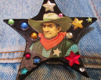 """Vintage """"Designs from the Deep"""" Western Star Pin - DFTD"""