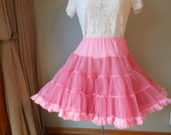 Full Pink Crinoline Square Dance Slip Petticoat Medium Small Large