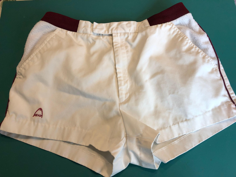 1960s – 70s Men's Ties | Skinny Ties, Slim Ties 1960S 1970S White Cotton Summer Short Shorts By Head Usa Mens Short, Womens Shorts, Unisex Small Medium $40.00 AT vintagedancer.com