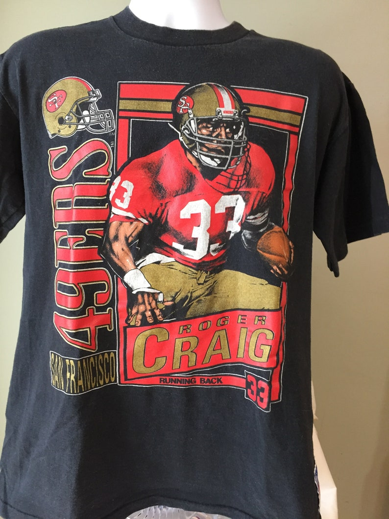 55823639788 Vintage Roger Craig San Francisco 49ers Double Sided T Shirt