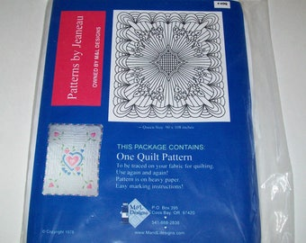 Jeaneau Quilt Pattern  #40Q -Reuseable - Queen Size 90 x 108