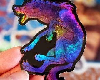 Sticker - Dark Yeen (rainbow holographic sticker)